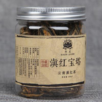 滇红 云南红茶宝塔 手工小红塔 功夫红茶芽茶 60g  小罐 红茶