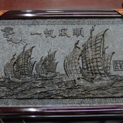 普洱生茶 一帆风顺工艺品 精美工艺茶雕挂件 茶叶礼盒