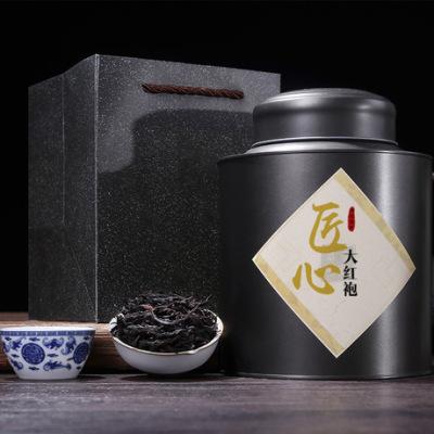 武夷山大红袍 乌龙茶 精美复古250g罐装 原产地直销配提袋