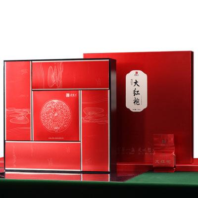 中秋茶礼批发 特色茶礼大红袍 4盒配建盏 武夷岩茶送礼体面