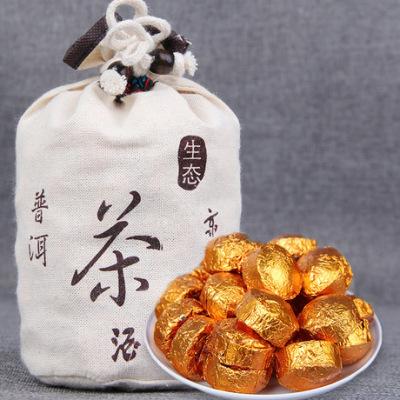 糯米香普洱小沱茶 糯香熟茶叶 糯米香普洱茶500g布袋装
