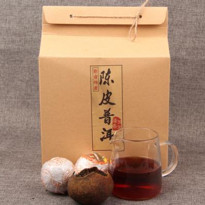 新会特产柑普 普洱茶 五年陈皮普洱茶 培羽枣香桔普茶800g