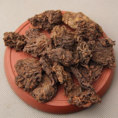 普洱茶 老茶头自然沱 2002年陈年金芽 散茶叶 勐海熟大茶头