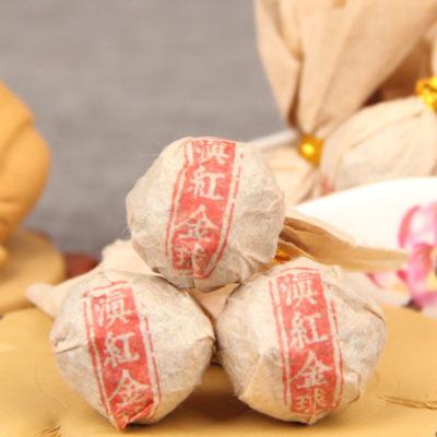 云南红茶 凤庆滇红迷你小沱茶古树 滇红金球 金芽龙珠茶500g