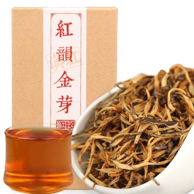 滇红茶 红韵金芽 滇红工夫茶 凤庆红茶单芽茶叶 精美盒装70g