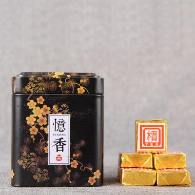 云南普洱茶熟茶小金砖 陈香熟普沱茶小方砖罐装 100g