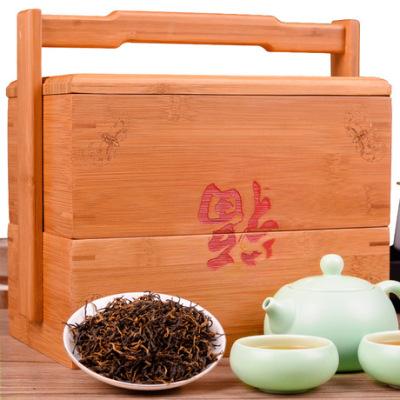 茶叶配茶具 武夷山金骏眉红茶叶 提梁竹制茶礼