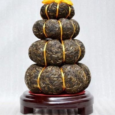 普洱茶 礼品工艺茶 4层1千克 金瓜葫芦摆件 礼品茶叶