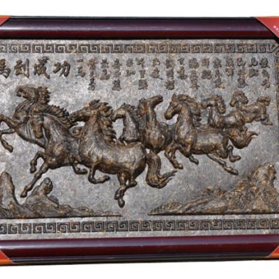 精美礼盒 普洱茶工艺茶雕 马到成功 方型挂件礼盒工艺品茶叶