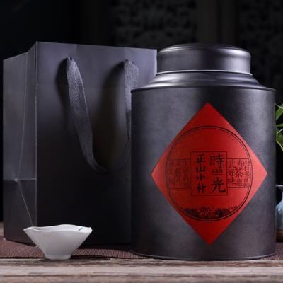 2019原产地茶叶直销 武夷山正山小种工作茶 大份量一斤罐装散装
