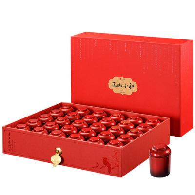 中秋茶礼 正山小种红茶小茶罐300g礼盒装 30罐大份量 送礼