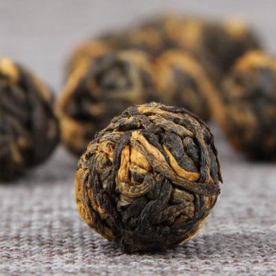 云南滇红茶 手工金珠绣球滇红茶功夫红芽金珠茶 500g