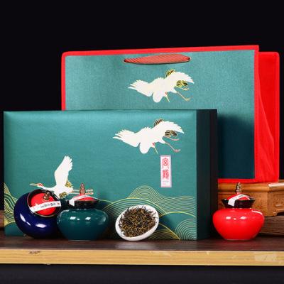中秋茶礼新品 品质茶礼武夷山金骏眉红茶 精美礼盒6瓷罐装