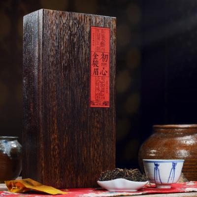 武夷山原产地 蜜香金骏眉 红茶 250g  实木火烧做旧茶叶礼盒装