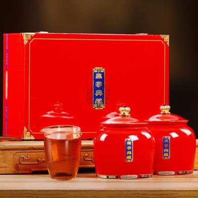过年茶礼 厂家直销 桐木关金骏眉红茶 礼盒装220g 大气茶礼 批发