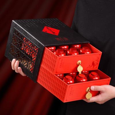 武夷红茶正山小种茶叶礼盒装定制批发180g小茶罐装中秋送礼品质款