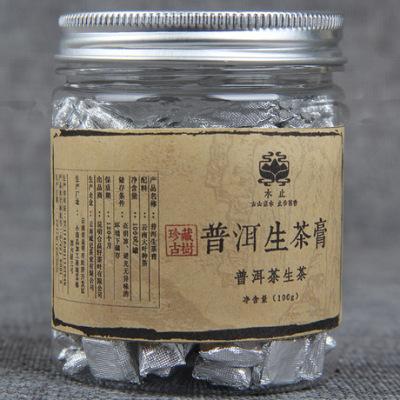 高品质普洱茶 云南珍品茶膏 小罐普洱生茶膏 100g