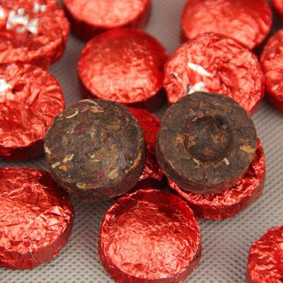 木止玫瑰普洱迷你小沱茶 普洱茶 熟茶 小沱 玫瑰普洱茶250g