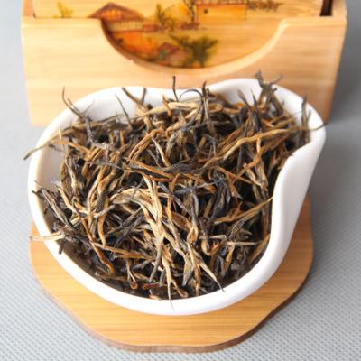 云南凤庆滇红茶 金针直条单芽茶 金丝滇红工夫红茶