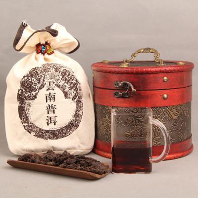 五年陈香 熟茶勐海老茶头 熟茶头 勐海普洱散茶 送皮桶500g