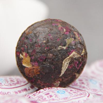 云南勐海优质普洱茶 熟茶 木止玫瑰香沱 迷你小沱玫瑰普洱