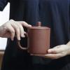 宜兴原矿紫泥紫砂盖杯 办公室茶杯 清正杯