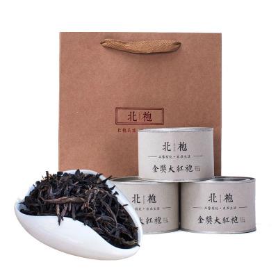一级花香 武夷山金装大红袍 乌龙岩茶 礼品罐装 拍3罐送提袋【包邮】