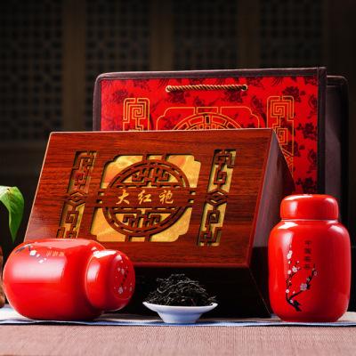 武夷岩茶 特级大红袍 乌龙茶叶 中国红瓷罐 精品礼盒装 浓香型原头茶叶