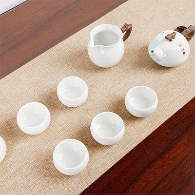 镜清劲雅茶组9件式(青瓷冰裂)