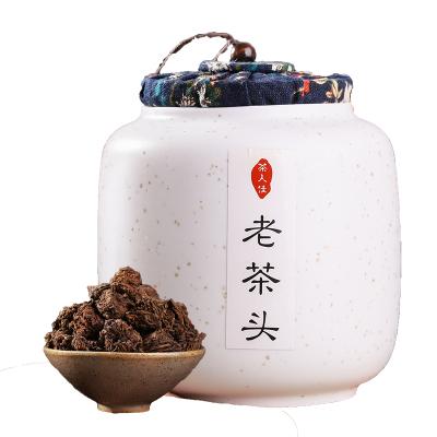 老茶头云南普洱茶熟茶礼盒罐装布朗山发酵熟茶老茶头糯香醇香散装