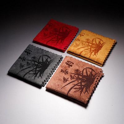 功夫茶具配件茶巾茶布茶席茶道专用抹布中国风布艺吸水加厚茶巾茶布