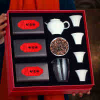 溪观白茶白毫银针茶叶老白茶饼原料礼品茶送礼礼盒装