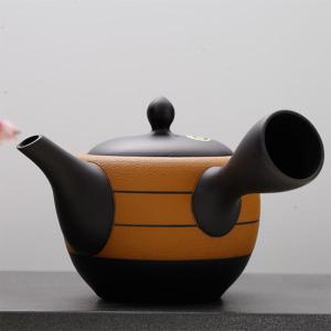 日本常滑烧-黄色蜻蜓壶