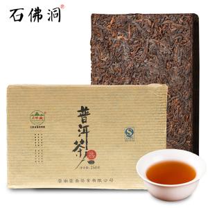 石佛洞云南普洱茶熟茶 普洱茶叶 四年陈老砖茶 古树茶 250g茶砖
