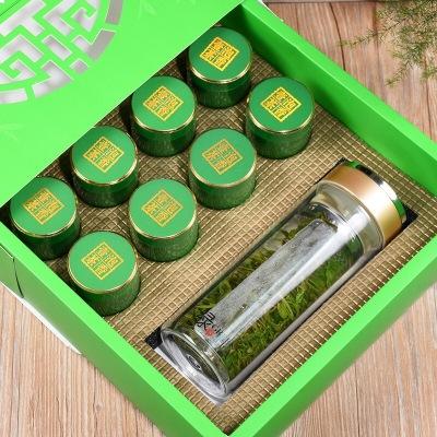 福建乌龙茶铁观音茶叶安溪浓香铁观音礼盒装古人堂绿色8罐200g送茶具