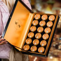 中秋送礼 冠茶 安溪铁观音茶叶浓香型兰花香小金罐装手工茶18罐礼盒装