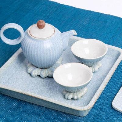 水原蓝小茶壶5入