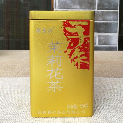 蜀茗润 飘雪茉莉花 罐装茶250g 花毛峰2019新茶 四川茉莉花茶 特级茶叶