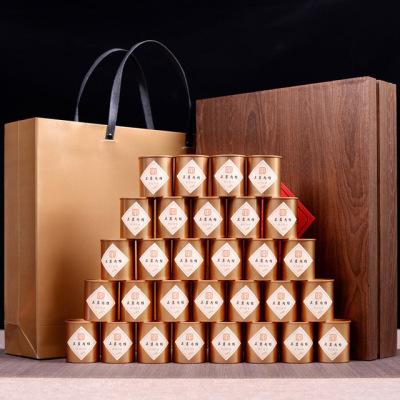 武夷岩茶 武夷山特级浓香 肉桂木制礼盒30罐 茶叶礼盒装 茶叶