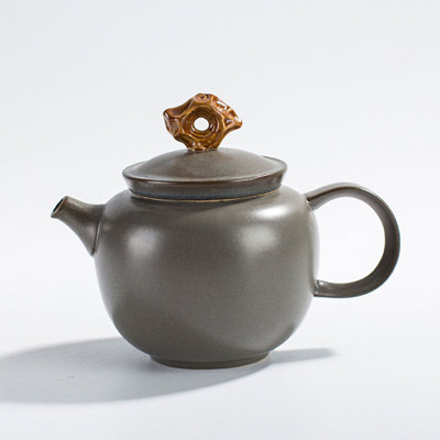 金石小茶壶深亚灰6入