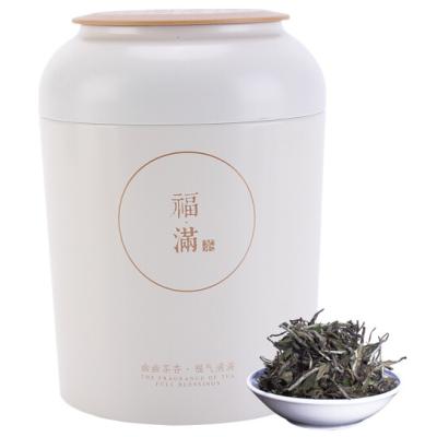 福鼎白茶2018年花香型白牡丹纯日晒高山牡丹王罐装散茶茶叶