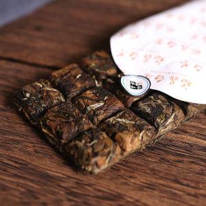 福建白茶手撕寿眉白牡丹巧克力便携茶砖礼盒装100g