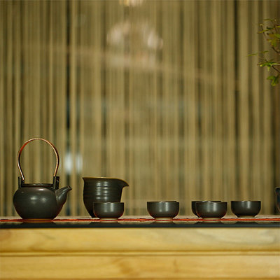 瓣.提梁壶茶具组 陶7