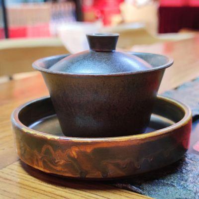 景德镇精陶盖碗适合泡普洱茶乌龙茶非无听器孤品单只
