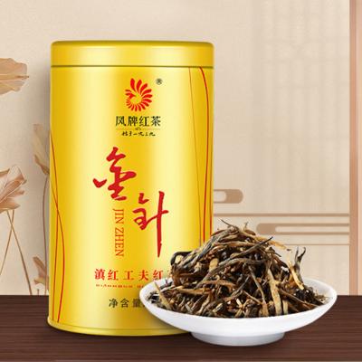凤牌红茶 茶叶 云南滇红茶金针金丝金芽茶工夫红茶60g罐装 甜香型