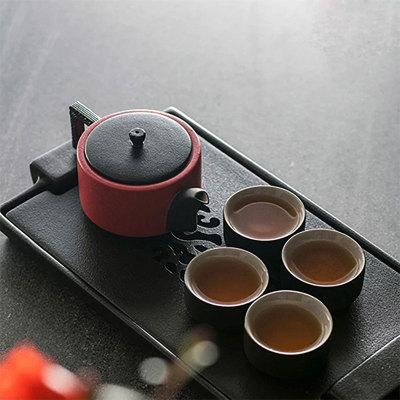 龙启壶茶礼(富贵红)
