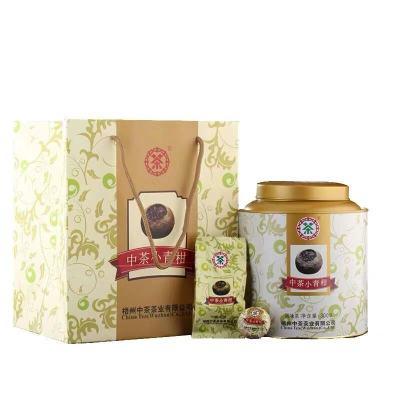 中粮中茶新会小青柑广西梧州陈皮六堡茶黑茶茶叶新会小柑橘 300g