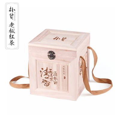 朴货老纵红茶正方木盒500g礼盒装
