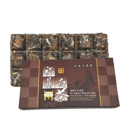 2016年老白茶巧克力饼 福鼎白茶老白茶贡眉茶砖100克