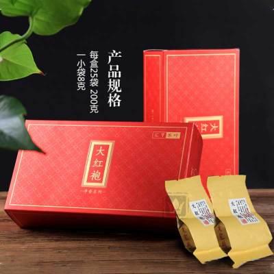 武夷山大红袍茶叶新茶岩茶送礼乌龙茶礼盒装四盒装共800g
